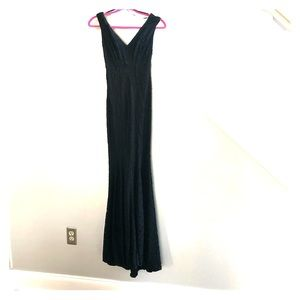 NWT! Betsy & Adam Black Lace Gown Size 2